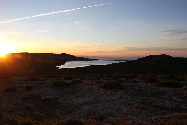 Sonnenaufgang am Standplatz, 1600 m, Sierra Estrella