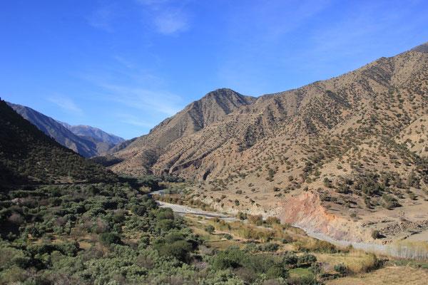 Fahrt zum Tizi-n-Test Pass, Hoher Atlas