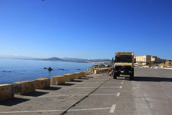 Frühstück in Ceuta, Spanische Exklave vor der Grenze zu Marokko