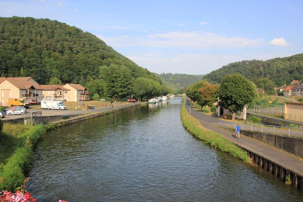 Rhein-Marne.Kanal, Standplatz Luetzelbronn, Nordvogesen