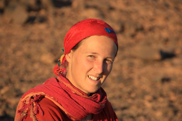 Stephanie am Standplatz 2, Zagora-Merzouga