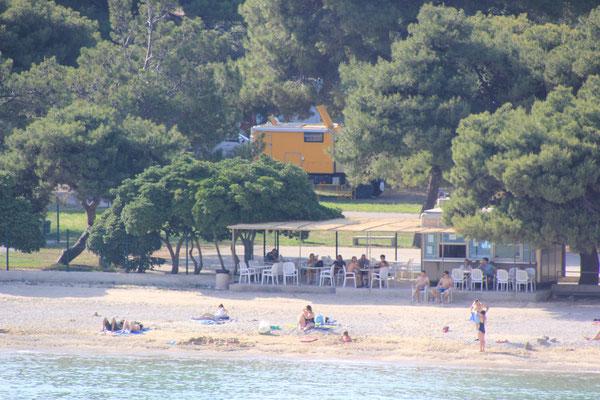 Strand, Campingplatz Prapatna bei Ston