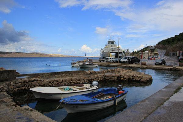 Fährabfahrhafen Prizna zur Insel Pag