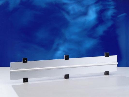 Kunststoff-Wandhalter für Flachheizrohre