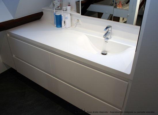 vasque goeland avec tiroirs résine