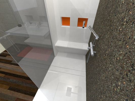 visuel douche avec niche et banc