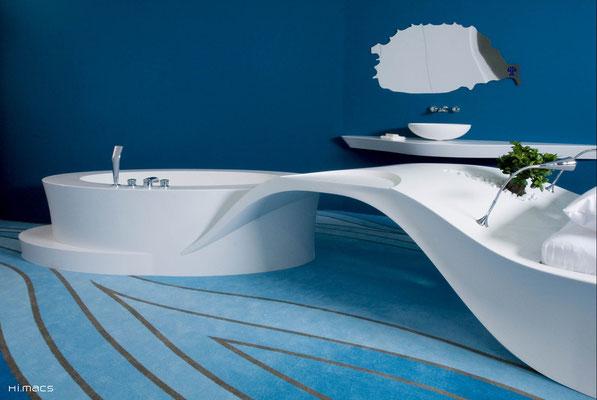 design by JOI Desig, fabricant Klöpfer Surfaces, germany, photographe Tobias D. Kern