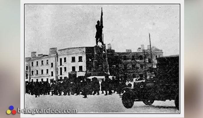 Красные вновь захватили город, кадры хроники 13-14 февраля 1943