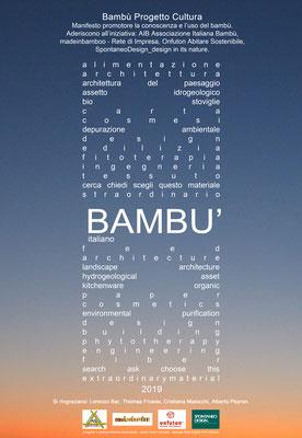 2015 - 2019 Manifesto Bambù progetto Cultura.