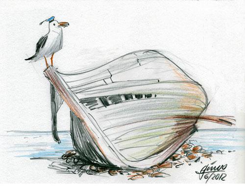 Strandgut (Bunt- und Bleistift)