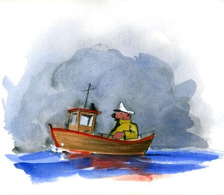 Käptn Bär auf großer Fahrt (Acryl)