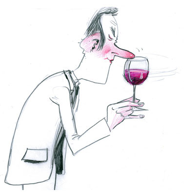 """Skizze zur Weingeschenkbox """"der Genießer"""""""