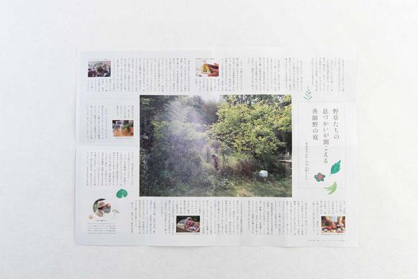 中面3/写真を文章で囲む大胆なレイアウトは、紙モノならでは
