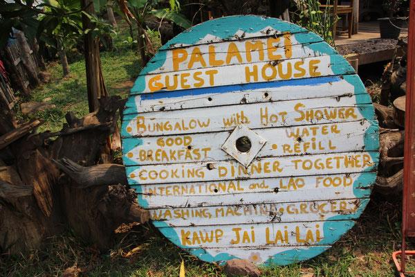 Werbetafel Palamey Guesthouse
