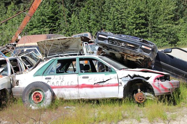 Autofriedhof in Hyder, Alaska