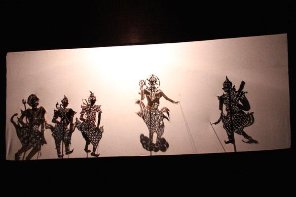 Schattentheater in Champasak