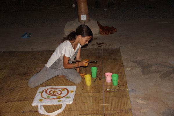 Malen mit selbsthergestellten Naturfarben, Bali