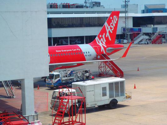 Unser Flieger nach Bali