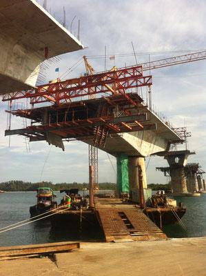 Brücke im Bau, Koh Lanta