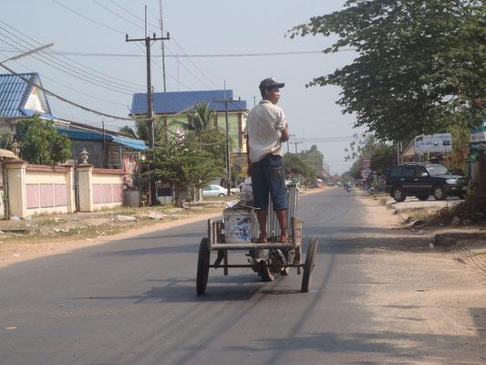 In Schräglage unterwegs in Koh Kong, Kambodscha