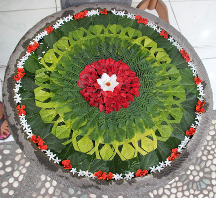 Blütenmandala, Ubud