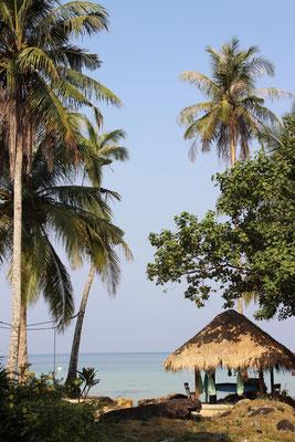 Aussicht von unserem Strandbungalow aus, Koh Kood