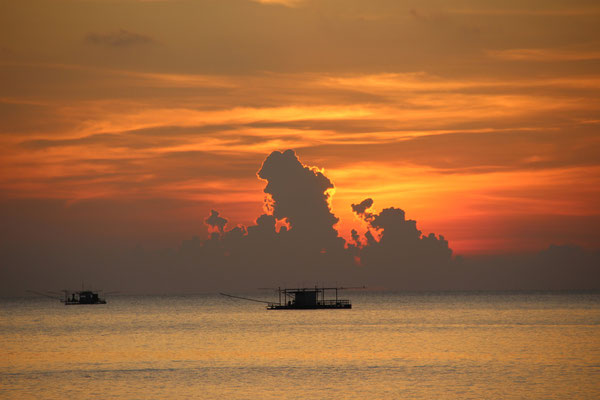 Sonnenuntergang am Mae Hat Beach, Koh Phangan