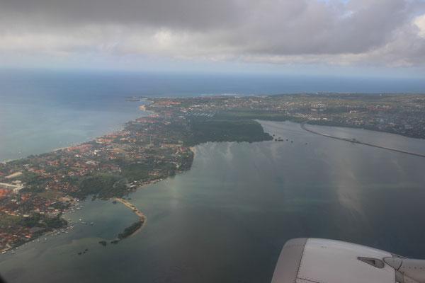 Beim Anflug auf Singapur
