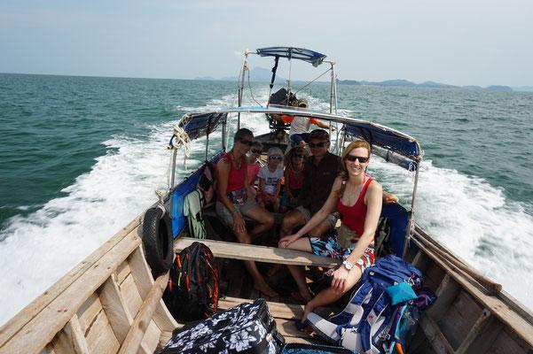Auf der Überfahrt von Koh Jum nach Koh Lanta