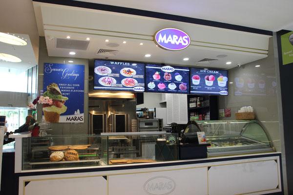 Mara`s Bäckerei in einem Einkaufszentrum in Singapur