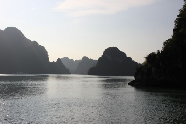 Auf der Bootstour im Cat Ba Archipel (Halong Bucht)