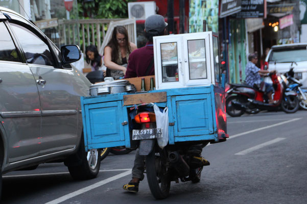 Mobile Küche in Ubud, Bali