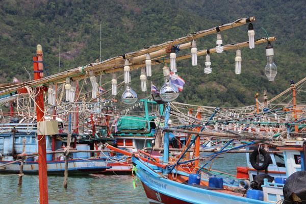 Fischerboote Chaloklum, Koh Phangan