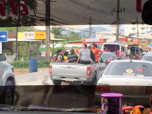 Im Taxi unterwegs, Koh Lanta