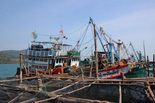 Am Fischerhafen auf Koh Kood
