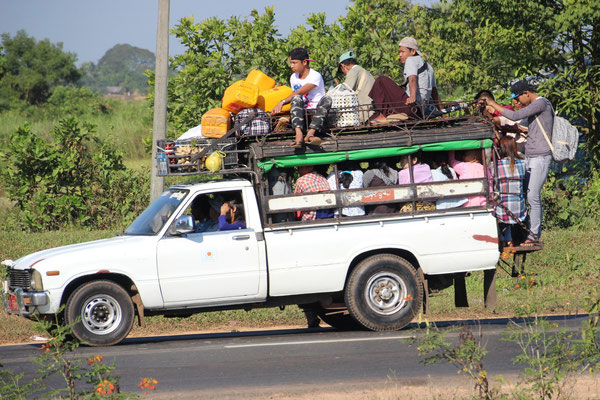 Personentransport in Mawlamyne, Myanmar