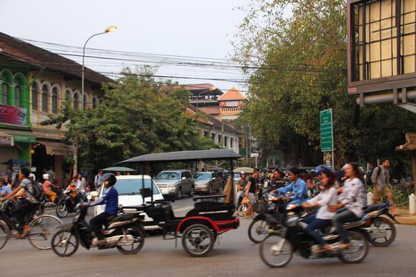 Motorradrischka in Siem Reap, Kambodscha