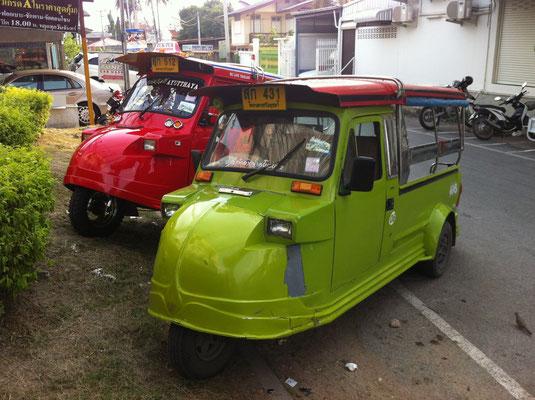 Autorikschas in Ayutthaya, Thailand