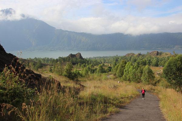 Auf dem Weg vom Gunung Batur
