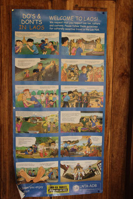 Verhaltensregeln in Laos