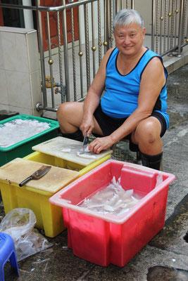 Unser Nachbar bei seiner täglichen Arbeit, Bangkok