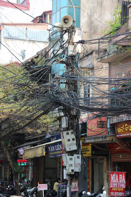 Üblicher Kabelsalat, Hanoi