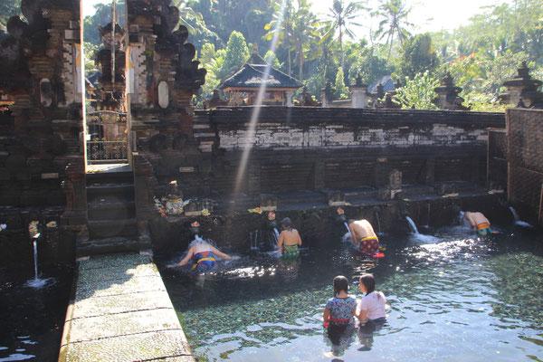Bei den heiligen Quellen von Tirtha Empul