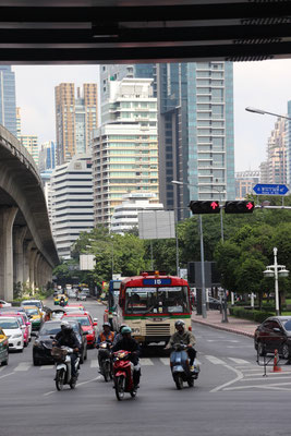 Strassenszene in Bangkok, Thailand