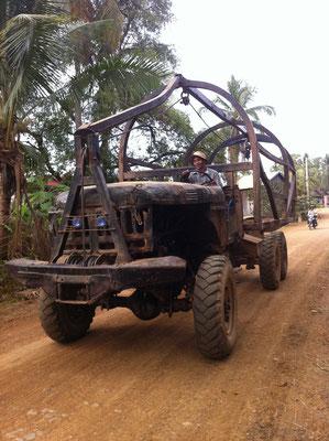Landwirtschaftliches Fahrzeug in Kratie, Kambodscha