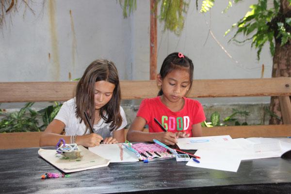 Gemeinsam zeichnen macht doppelt Spass, Kambodscha