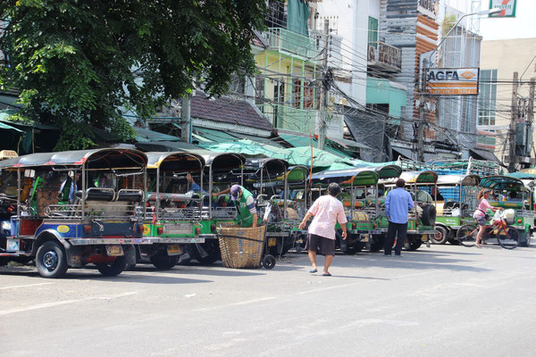 Rischkataxis in Bangkok, Thailand