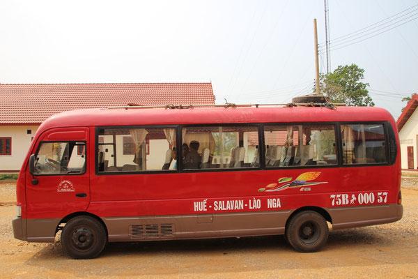 Unser Bus von Ban Talouy (Laos) nach Vietnam