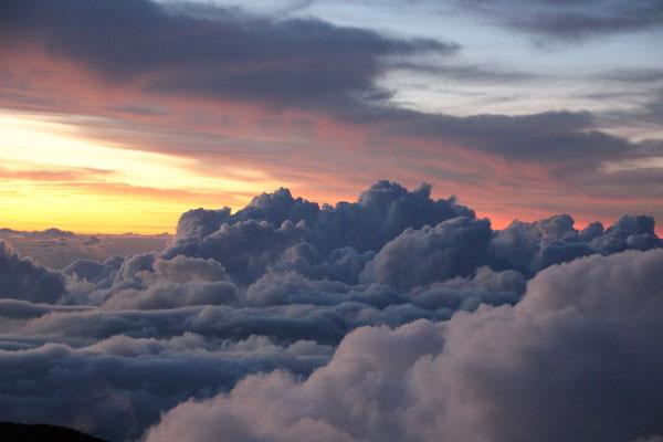 Wolken auf dem Mount Agung