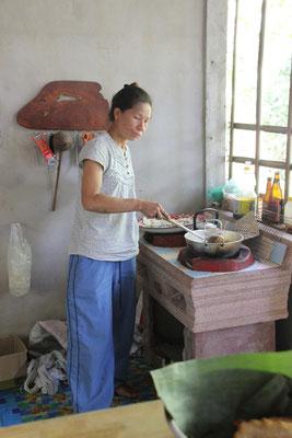 Mill unsere Gastgeberin in ihrer Küche